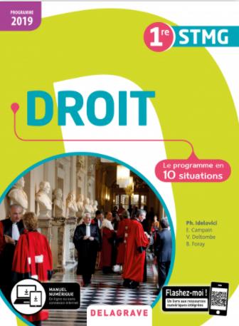 CORRIGE Droit Première DELAGRAVE 2019