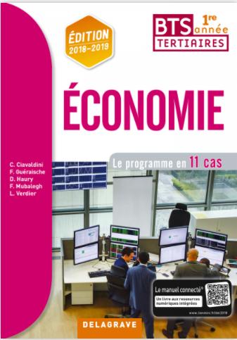 Economie BTS 1re année (2018) – Pochette élève DELAGRAVE
